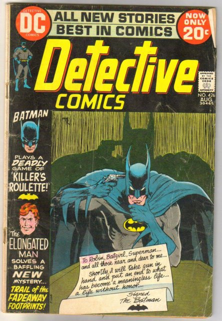 Batman's Detective Comics #426 comic book very good 4.0