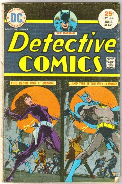 Batman's Detective Comics #448 comic book very good 4.0