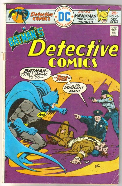 Batman's Detective Comics #454 comic book very good 4.0