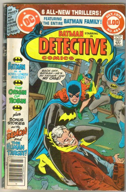 Batman's Detective Comics #484 comic book very good 4.0