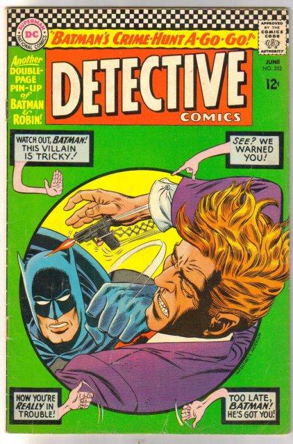 Batman's Detective Comics #352 comic book very good plus 4.5