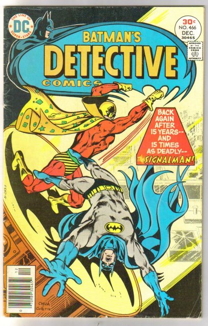 Batman's Detective Comics #466 comic book very good/fine 5.0