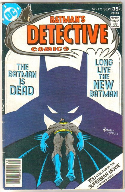 Batman's Detective Comics #472 comic book very good/fine 5.0