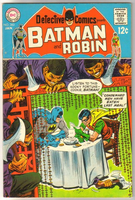 Batman's Detective Comics #383 comic book fine 6.0
