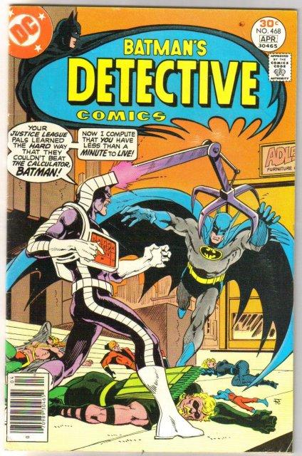 Batman's Detective Comics #468 comic book fine/very fine 7.0