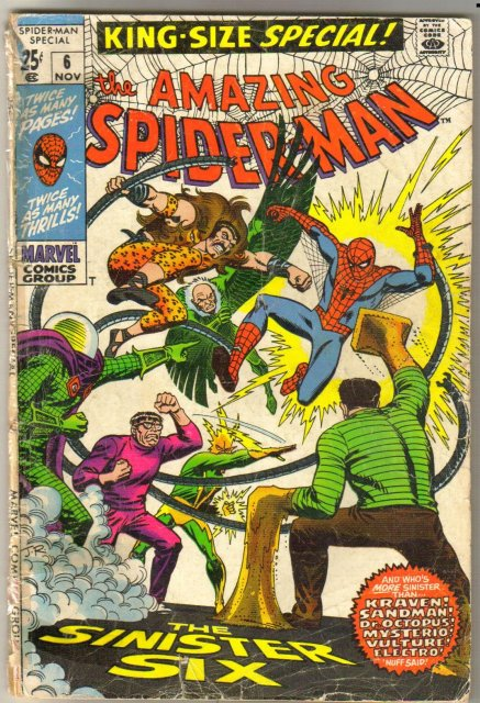 Amazing Spider-man King Size Special #6 comic book poor 1.0