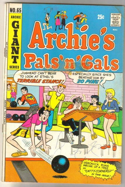 Archie's Pals 'n' Gals #65 comic book good/very good 3.0
