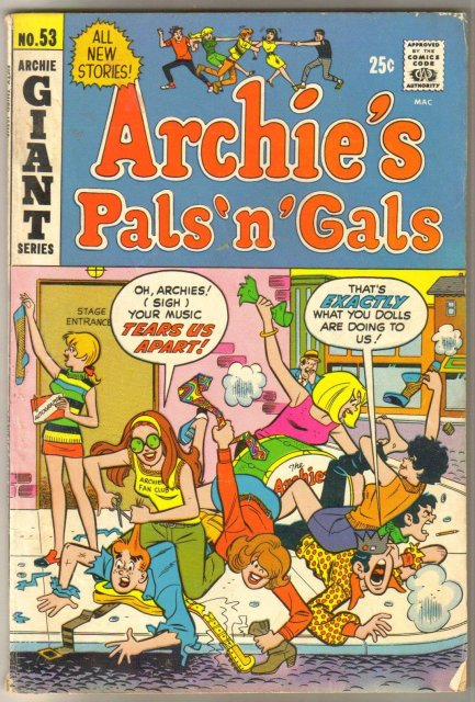 Archie's Pals 'n' Gals #53 comic book very good 4.0