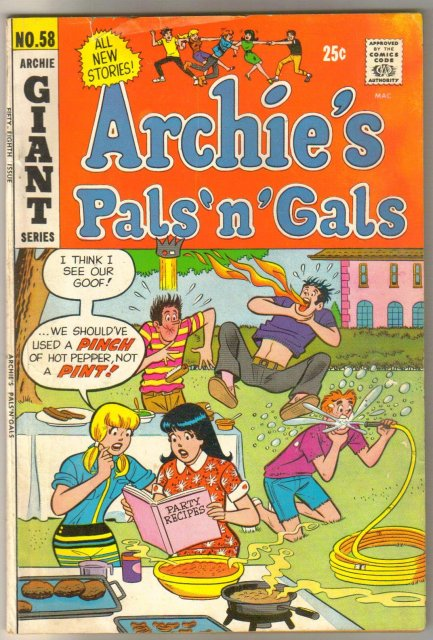 Archie's Pals 'n' Gals #58 comic book very good 4.0