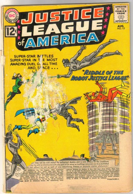 Justice League of America #13 poor 1.0