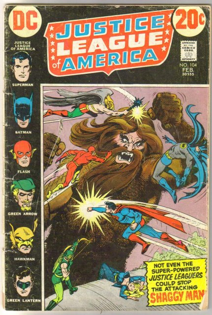 Justice League of America #104 good/very good 3.0