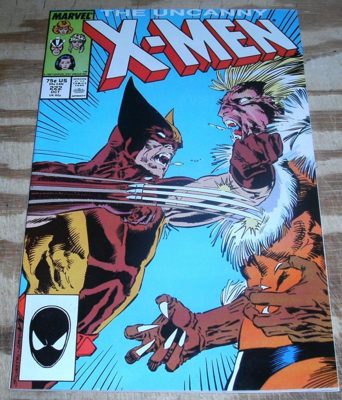 Uncanny X-Men #222 near mint plus 9.6