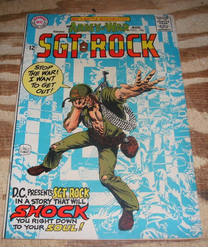 Our Army at War featuring Sgt. Rock #196 very good/fine 5.0
