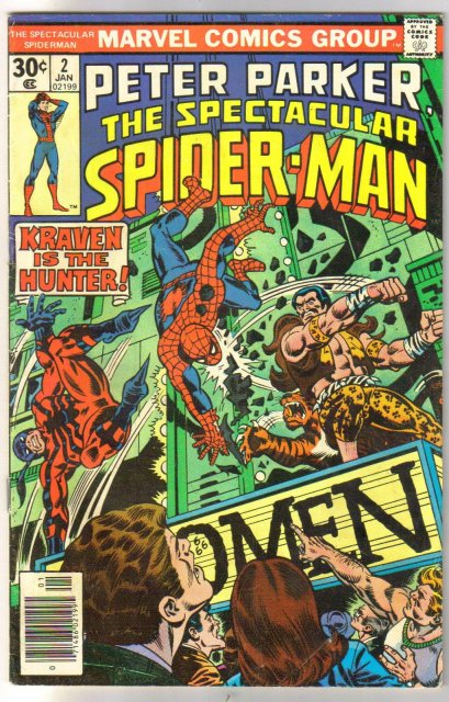 Peter Parker The Spectacular Spider-man #2 comic book very good 4.0