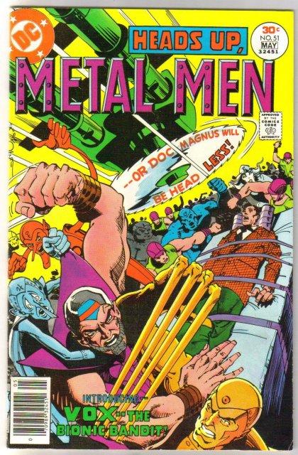 Metal Men #51 comic book very fine 8.0