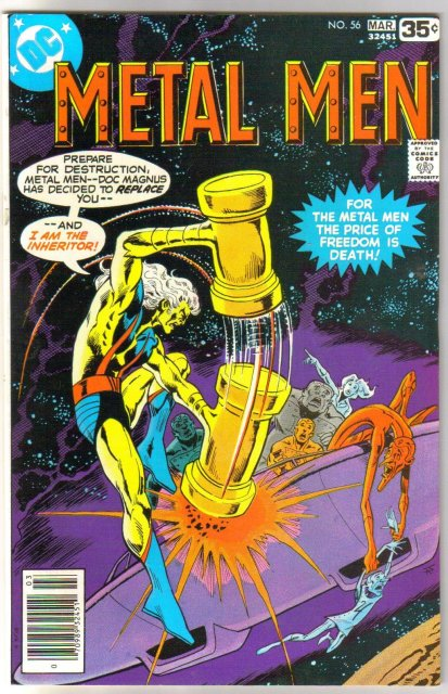 Metal Men #56 comic book near mint 9.4
