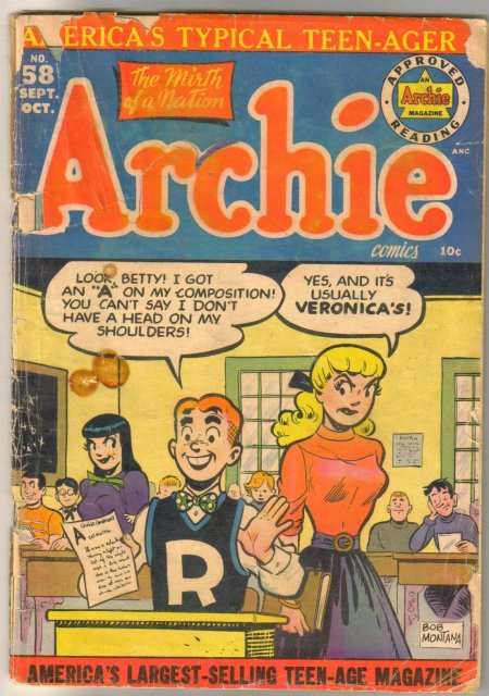Archie Comics #58 comic book poor 1.0