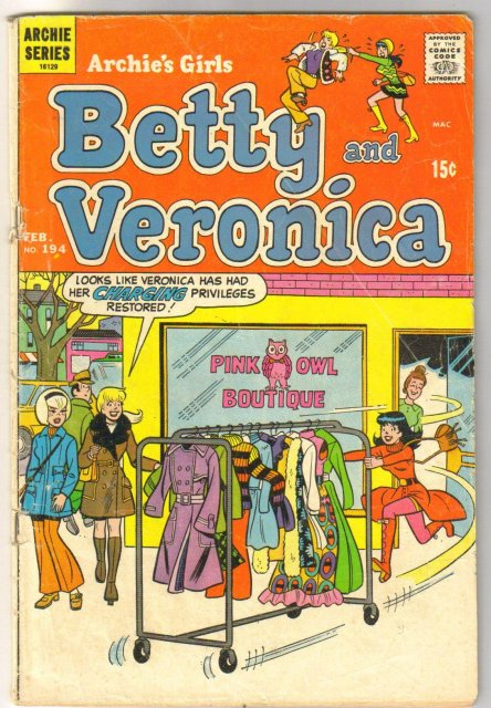 Archie's Girls Betty and Veronica #194 comic book very good 4.0