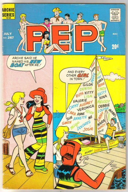 Pep Comics #267 comic book very good/fine 5.0