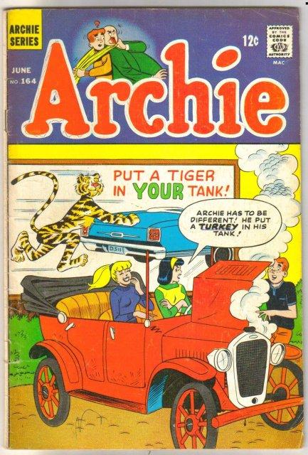 Archie Comics #164 comic book very good/fine 5.0