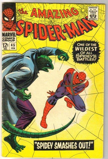 Amazing Spider-man #45 comic book fine 6.0