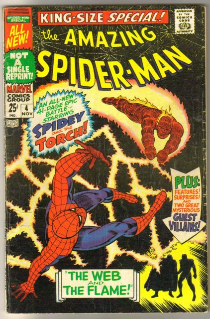Amazing Spider-man king-size special #4 comic book very good 4.0