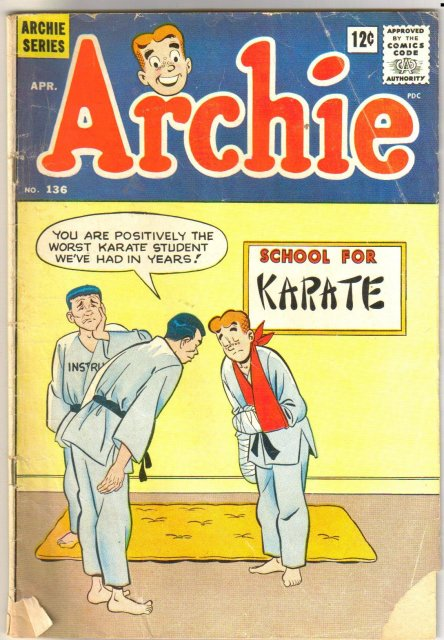 Archie Comics #136 comic book very good 4.0