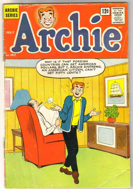 Archie Comics #147 comic book very good 4.0