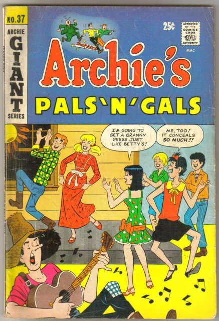 Archie's Pals 'n' Gals #37 comic book very good/fine 5.0