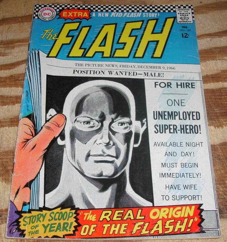 The Flash #167 very good/fine 5.0