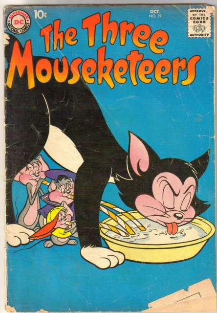 The Three Mouseketeers #19 comic book good/very good 3.0