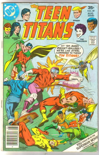 Teen Titans #49 comic book very good plus 4.5