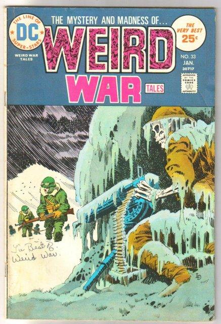 Weird War Tales #33 comic book very good/fine 5.0