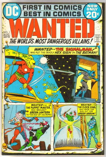 Wanted THE world's Most Dangerous Villains #1 comic book very fine/near mint 9.0