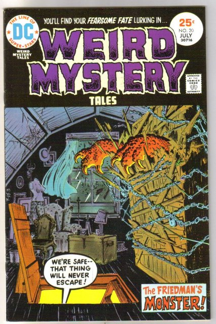 Weird Mystery Tales #20 comic book very fine/near mint 9.0