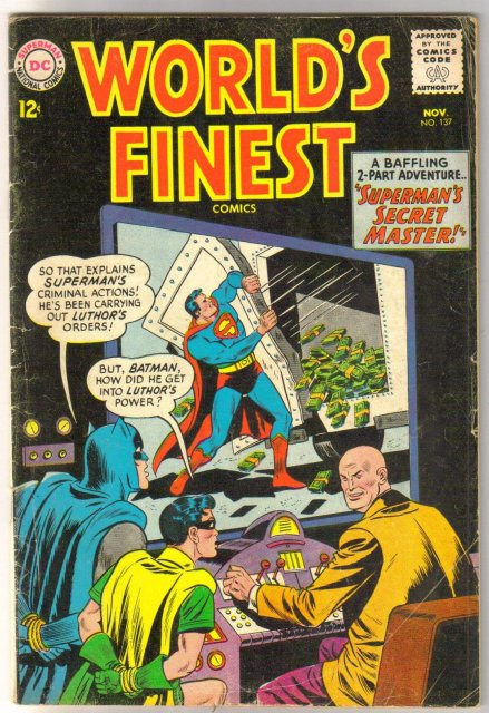 World's Finest #137 comic book very good/fine 5.0