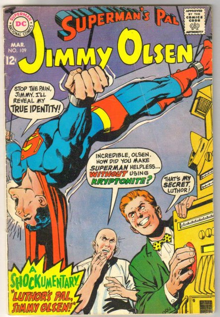 Superman's Pal Jimmy Olsen #109 comic book very good 4.0