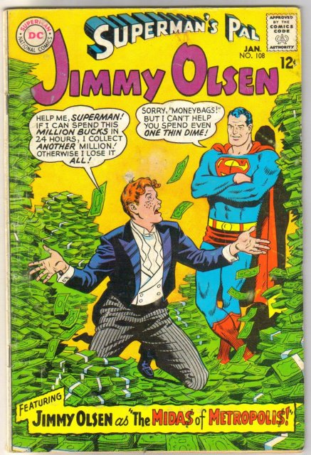 Superman's Pal Jimmy Olsen #108 comic book very good plus 4.5