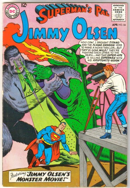 Superman's Pal Jimmy Olsen #84 comic book  very good/fine 5.0
