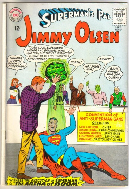 Superman's Pal Jimmy Olsen #87 comic book  very good/fine 5.0
