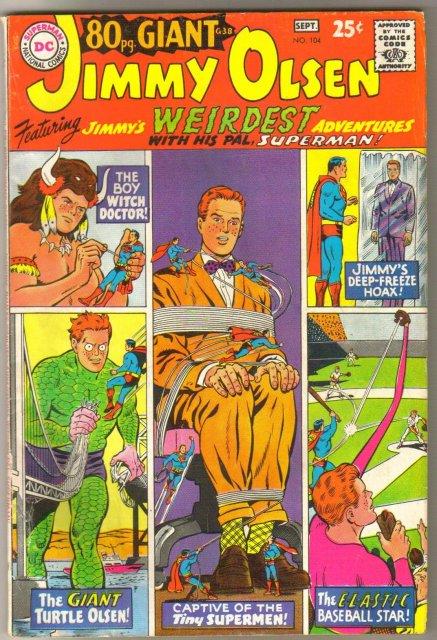 Superman's Pal Jimmy Olsen #104 comic book  very good/fine 5.0