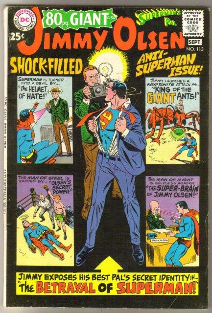 Superman's Pal Jimmy Olsen #113 comic book  very good/fine 5.0