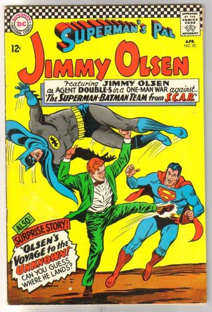 Superman's Pal Jimmy Olsen #92 comic book  fine 6.0