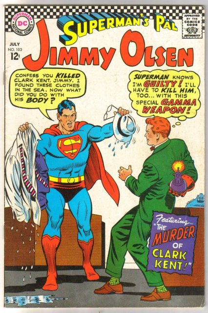 Superman's Pal Jimmy Olsen #103 comic book  incomplete