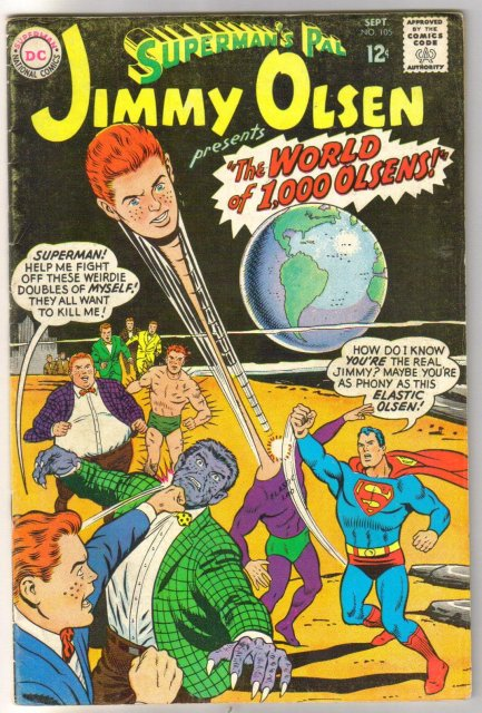 Superman's Pal Jimmy Olsen #105 comic book  fine 6.0