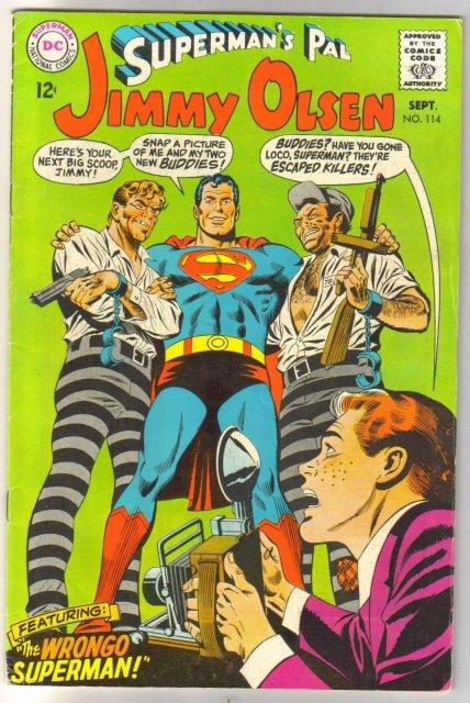 Superman's Pal Jimmy Olsen #114 comic book  fine 6.0