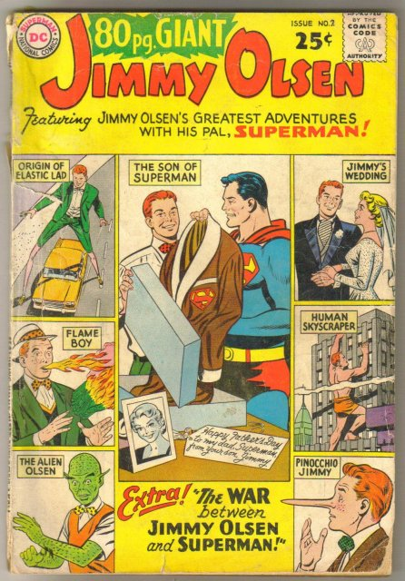 Eighty Page Giant #2 Jimmy Olsen comic book poor 1.0
