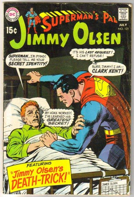Superman's Pal Jimmy Olsen #121 comic book very good 4.0
