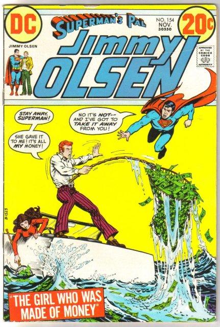 Superman's Pal Jimmy Olsen #154 comic book very fine/near mint 9.0