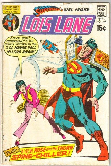 Superman's Girl Friend Lois Lane #109 very good 4.0